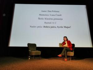 Ivana Črnelč pročitala je nagrađenu priču Dobro jutro, Syrtis Major učenika Dana Polimca