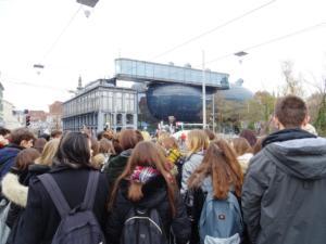 Kunsthaus / Muzej suvremene umjetnosti izgrađen je 2003. godine kada je Graz bio Europska prijestolnica kulture.