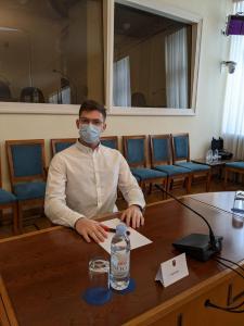 Dan Polimac na čelu stola u dvorani Ivana Mažuranića