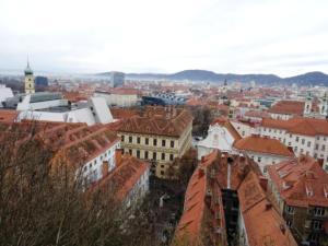 Sa Schlossberga se pruža divan panoramski pogled na Graz.